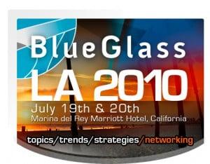 blue glass logo