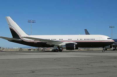 Google Plane Boeing 767 on the ground