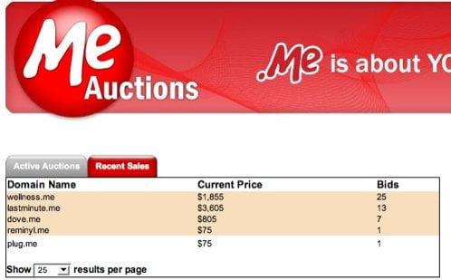 .me auctions