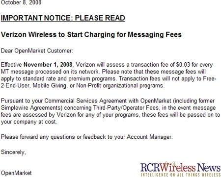 verizon text notice